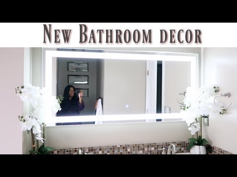 💙Glam Home💙 NEW BATHROOM DECOR | LED MIRROR INSTALL