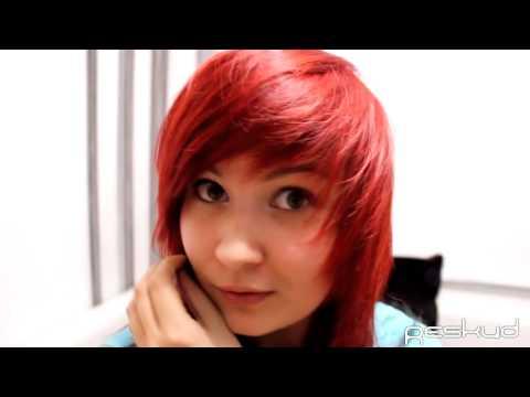 моя красная краска для волос my red hair dye