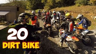 20 dirt bike riders in one place