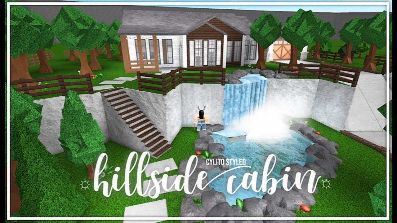 Roblox Bloxburg Hillside Cabin Cylito Style Youtube