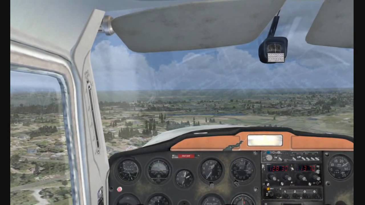 FSX Cessna 150 flight around Kissimmee (KISM)