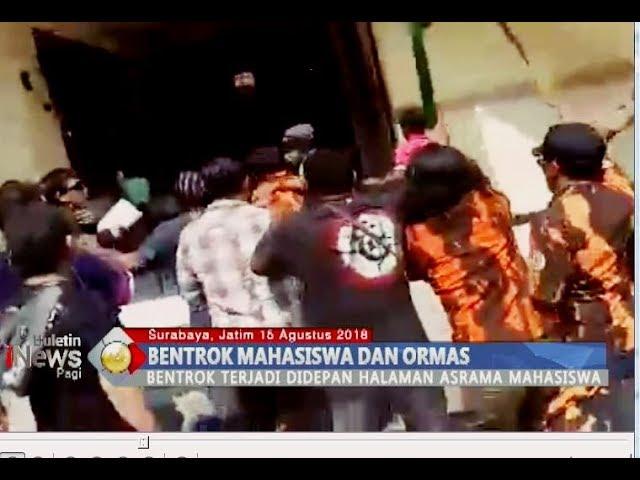 Tolak Kibarkan Merah Putih, Mahasiswa Papua dan Ormas Bentrok di Surabaya - BIP 16/08