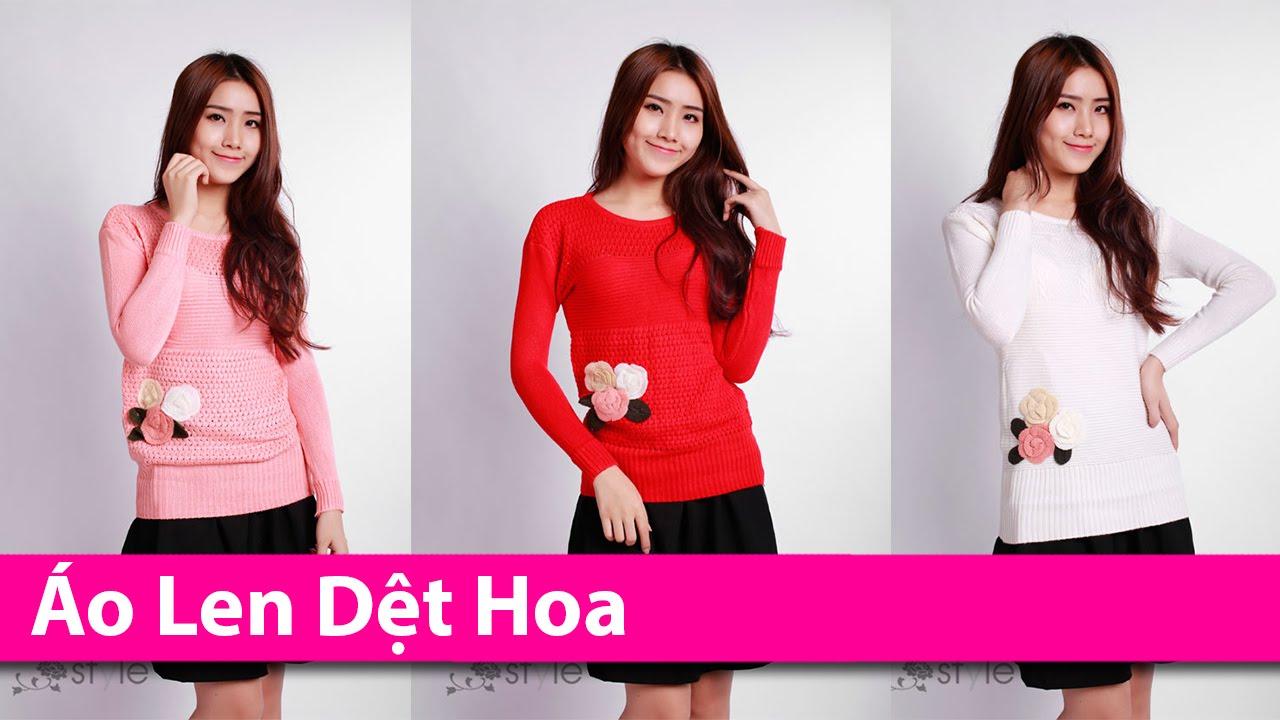 Áo Len Dệt Hoa – Áo Khoác HCM chuyên áo khoác thời trang AoKhoacHCM.com