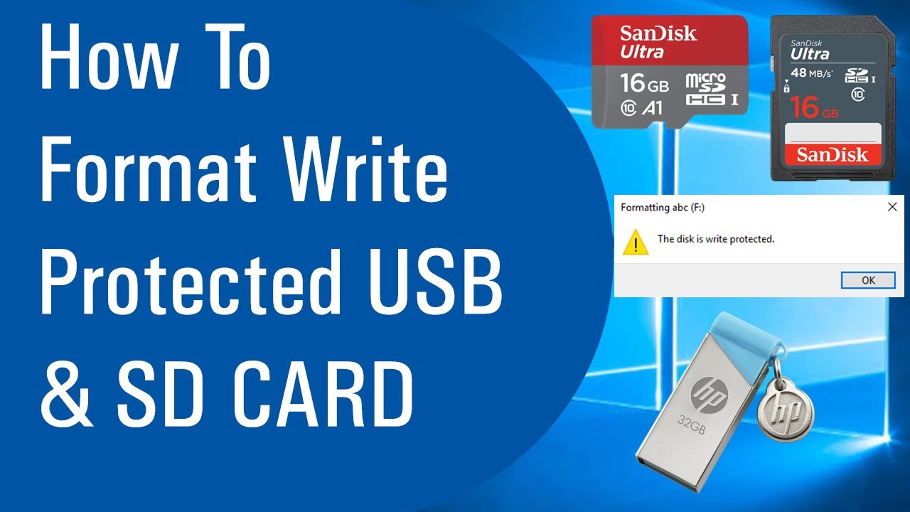 How To Format Write Protected USB And SD CARD - YouTube