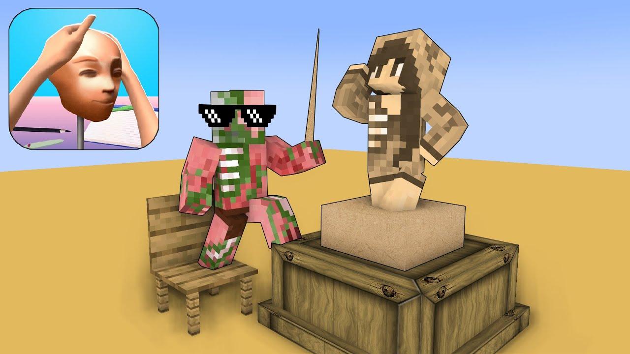 Monster School : SCULPT PEOPLE CHALLENGE - Minecraft Animation