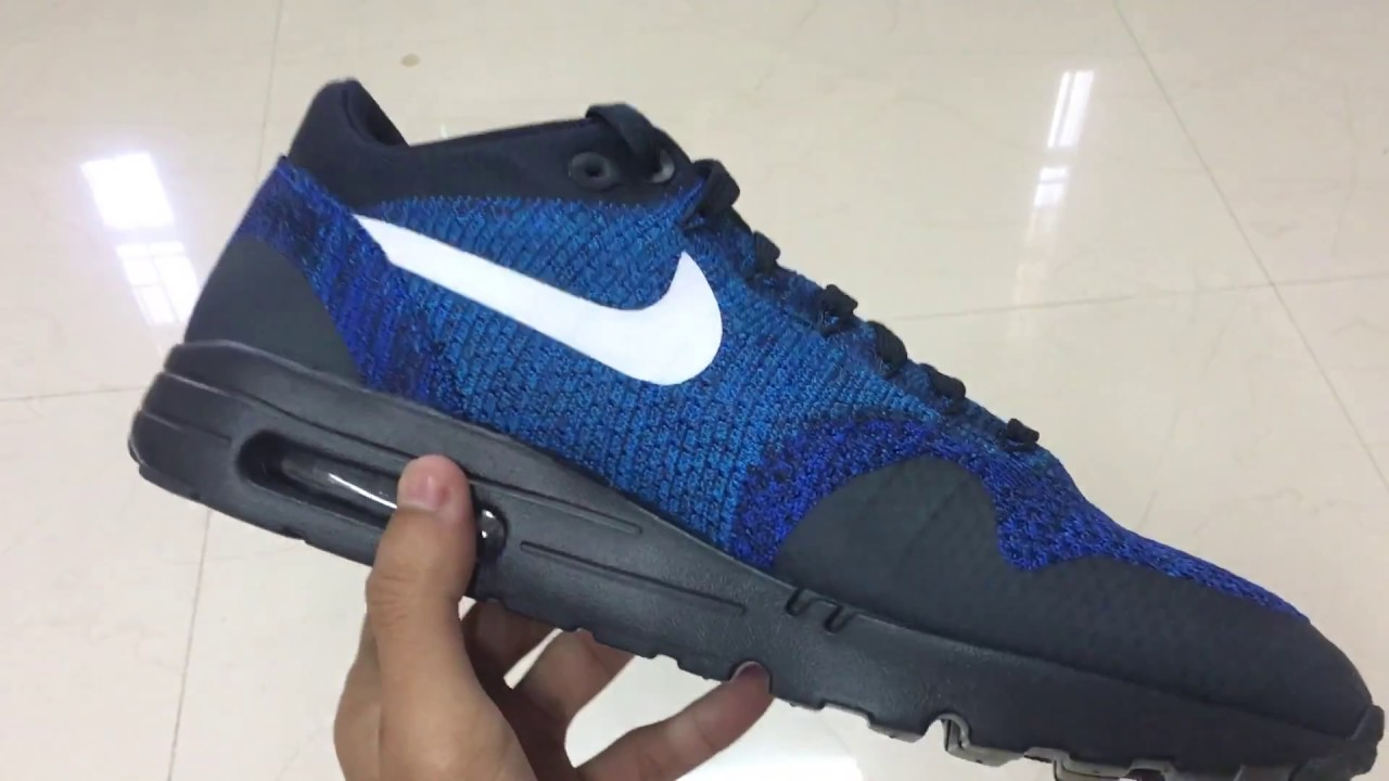Nike Air Max 1 Ultra Flyknit Blue Unboxing YouTube