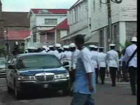 2004 - Opening of the National Assembly, St. Kitts - Arrival of the Governor General