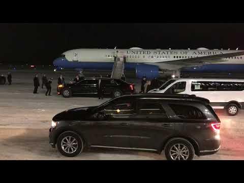 Donald Trump Arrives In Battle Creek, Michigan