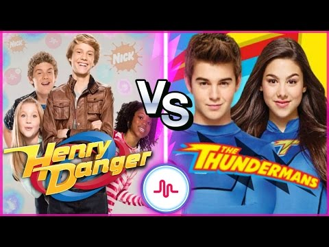 Henry Danger VS The Thundermans Musical.ly Battle | Nickelodeon Stars Musically Compilation