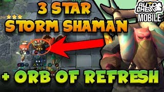I got a ⭐⭐⭐ Storm Shaman with ORB OF REFRESH in Gods! [King Rank] | Auto Chess Mobile