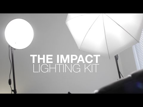 Impact Tungsten Two Floodlight Lighting Kit With 6 Stands