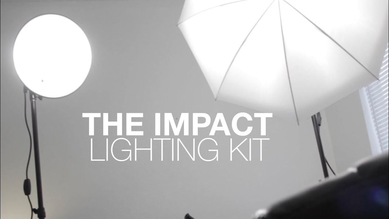Awesome Impact Tungsten Two Floodlight Lighting Kit With 6u0027 Stands Review   YouTube