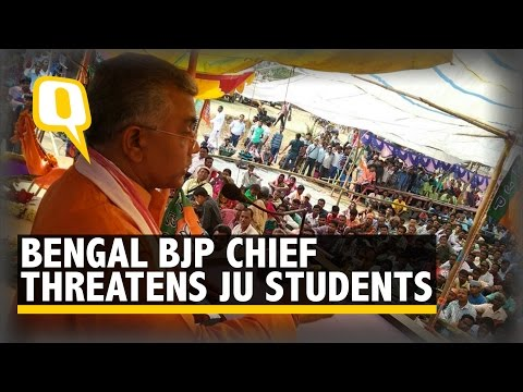Bengal BJP Chief Threatens Jadavpur University Students & Teachers