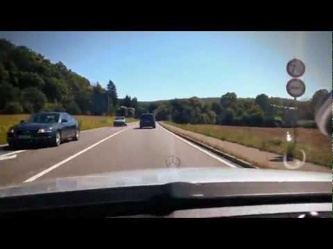 German Autobahn - driving from Stuttgart to Albstadt ( B27 )