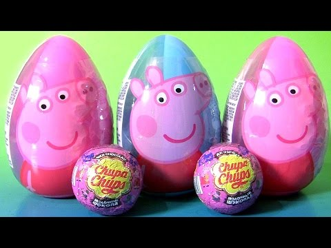 Giant Peppa Pig Easter Egg Surprise 2017 Chupa Chups Peppa Pig Choco Surprise by Funtoys