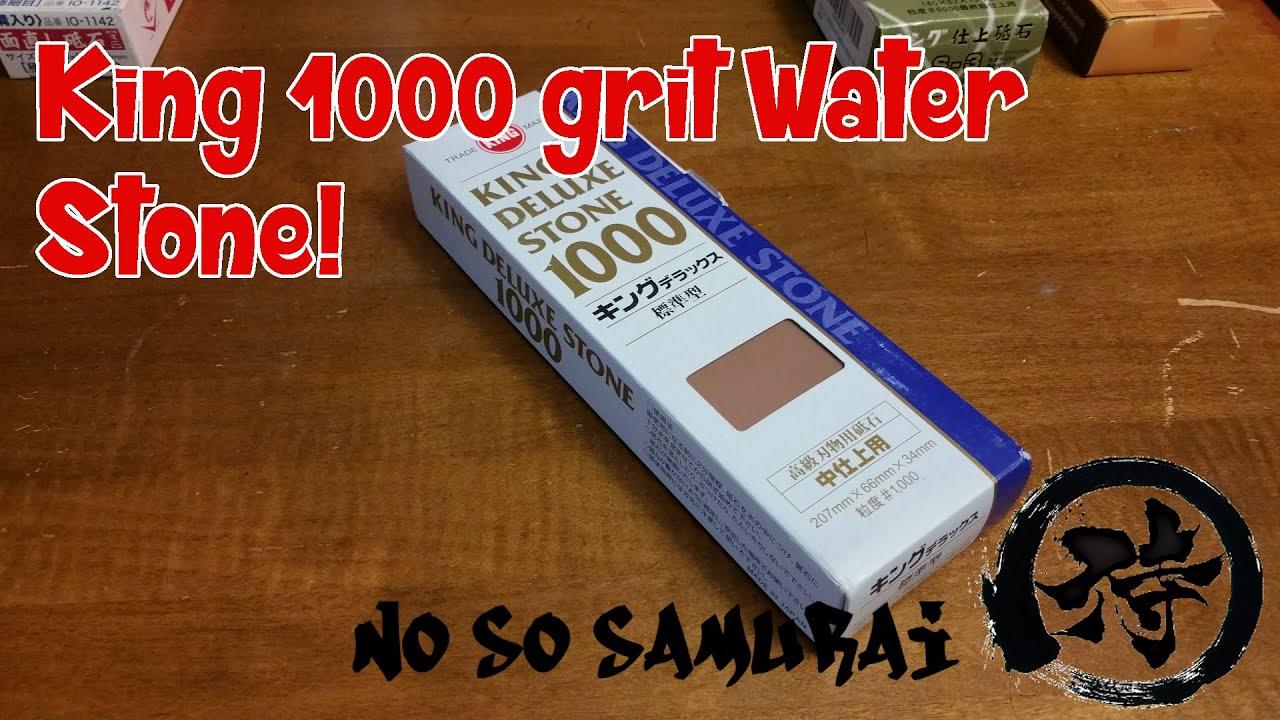 King Japanese Waterstone Medium 1000 Grit Deluxe Water Stone