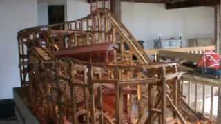 Wooden Roller Coaster Model (mustang).