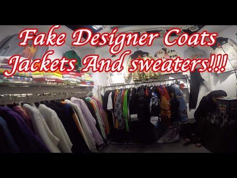 Fake Designer Market, Supreme Etc, Coats, Jackets, Sweaters Guangzhou China.