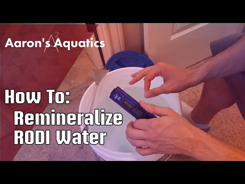 How To Remineralize RODI Water