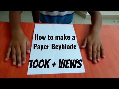 How to make a paper beyblade (easy)👍
