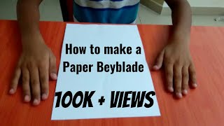 How to make a paper beyblade
