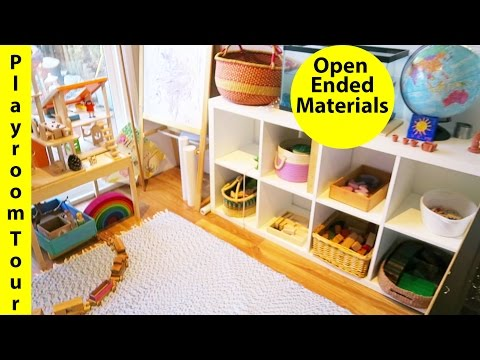 Toddler Playroom Tour (updated) - Open Ended Materials