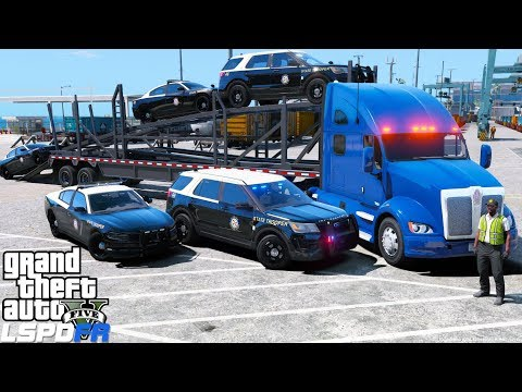 GTA 5 REAL LIFE MOD - ANOTHER DAY AT WORK #44 Delivering New 2016 & 2017 Florida Highway Patrol Cars