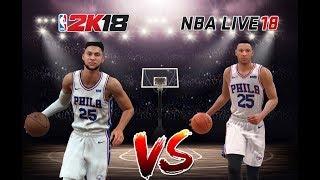 NBA 2k18 Vs NBA LIVE 18 ( Ben Simmons )