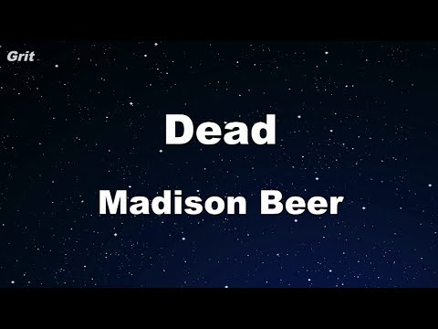 Dead - Madison Beer Karaoke 【No Guide Melody】 Instrumental