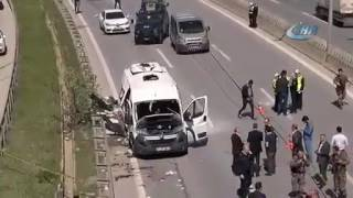 Опубликовано видео с места взрыва автобуса со студентами в Стамбуле
