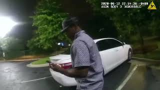 Rayshard Brooks shooting police bodycam footage from Wendy's parking lot