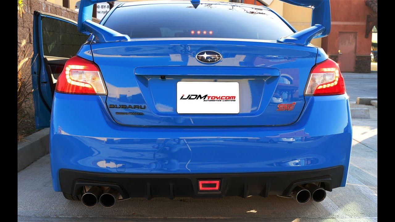 Ijdmtoy Jdm Rear Fog Light For Subaru Wrx Sti Impreza Xv