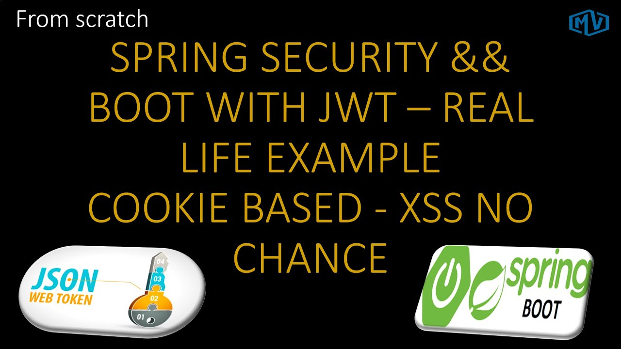 Json Web Token(JWT) Real life cookie based authentication + Spring  Boot+Security - Part 3