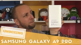 unboxing samsung galaxy a9 pro exclu