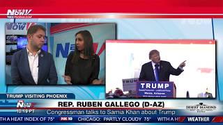 FNN: Congressman Ruben Gallego (D-AZ) Talks About Trump Rally Planned for Phoenix