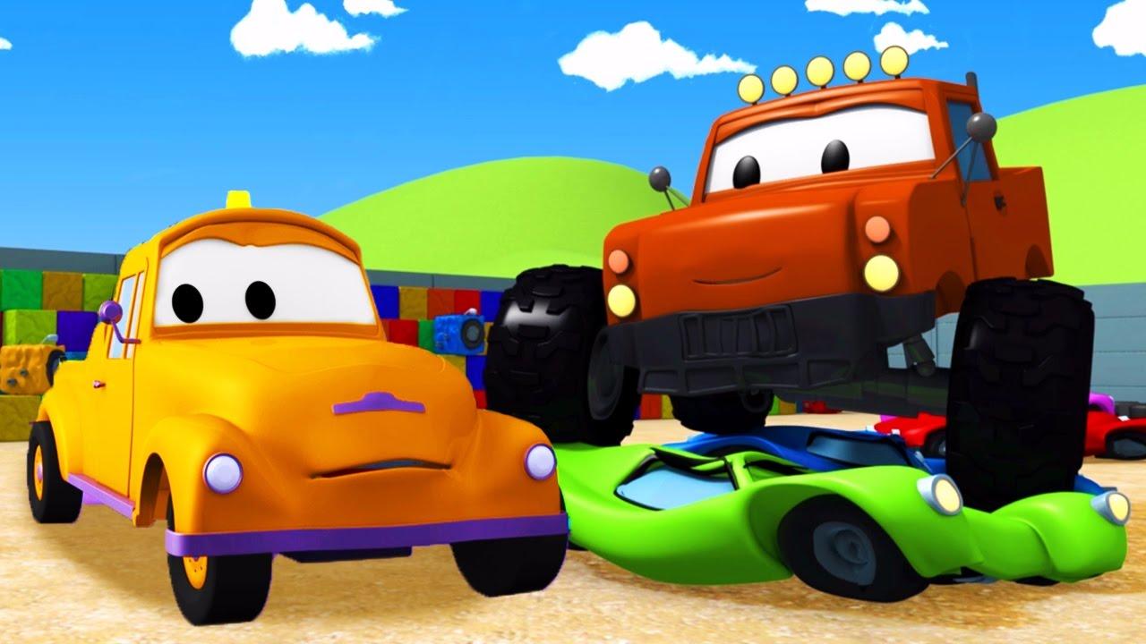 Tom La Dépanneuse Et Le Monster Truck à Car City Dessins Animés