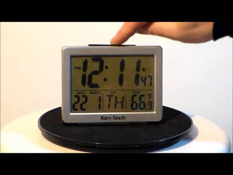 Lc transparent radio controlled alarm clock: amazon. Co. Uk: kitchen.
