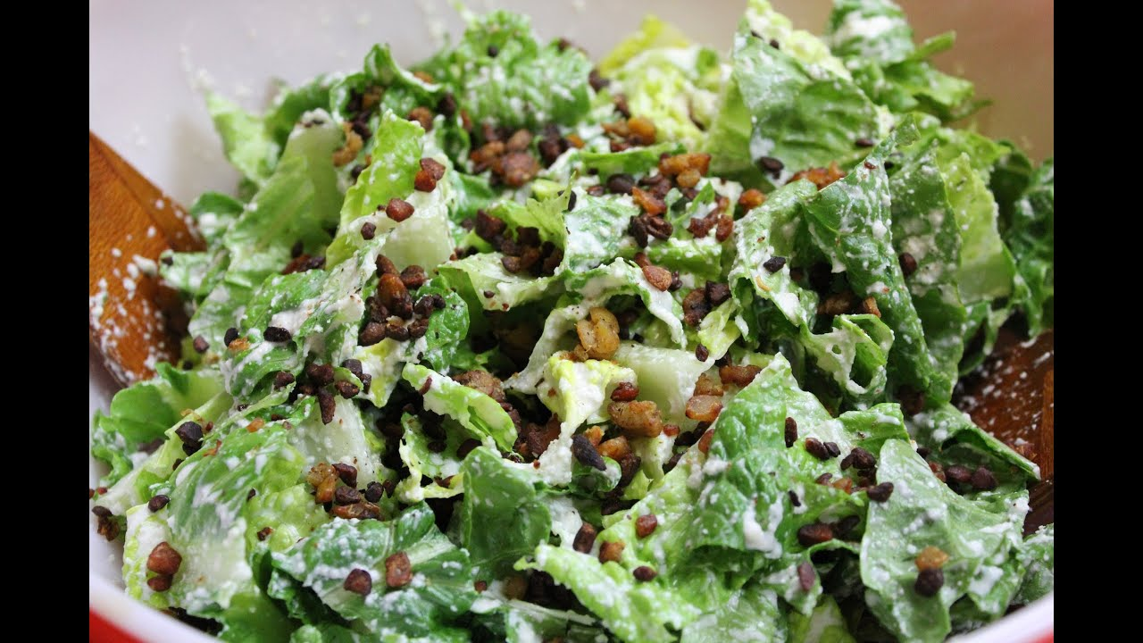 easy vegan caesar salad dressing with bacon bits youtube. Black Bedroom Furniture Sets. Home Design Ideas