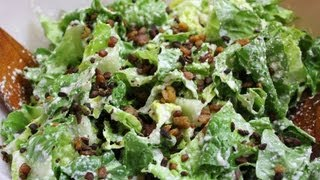 Easy Vegan Caesar Salad Dressing With Bacon Bits