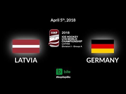 Latvia - Germany, Ice Hockey U18 World Championship, 2018