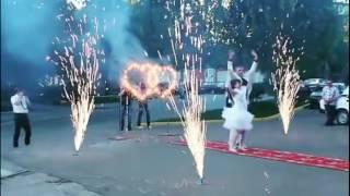 Дорожка из фонтанов + Сердце на Свадьбу