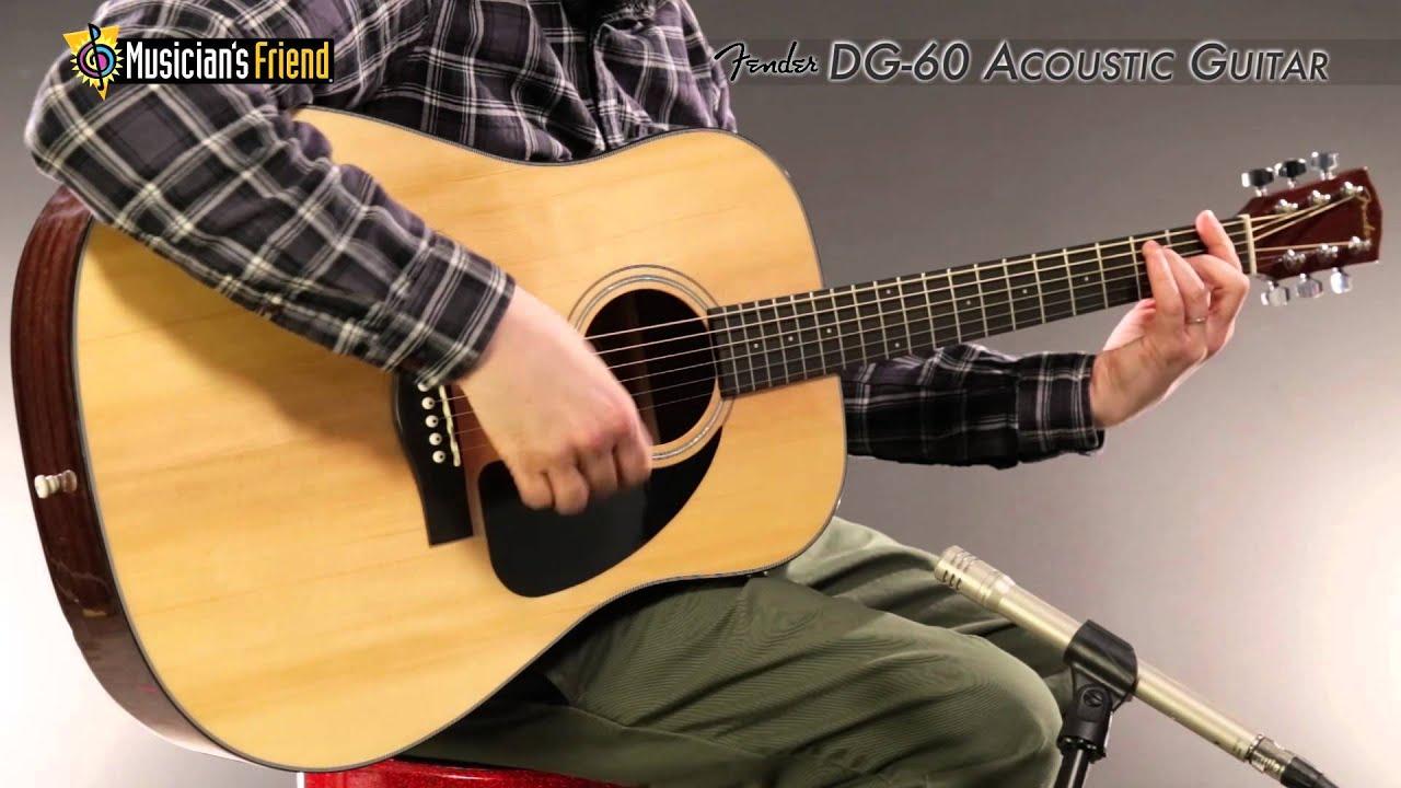 fender dg 60 acoustic guitar youtube. Black Bedroom Furniture Sets. Home Design Ideas