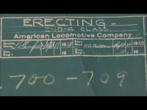 Huge 1928 Blueprints Central Vermont 2-10-4 Steam Locomotive Alco Erecting Plans