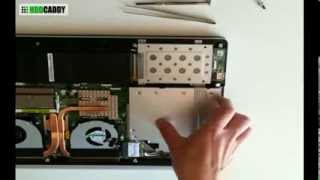 How-to Asus N550 N550JV adding 2nd HDD / SSD using DVD / optical drive bay with HDD Caddy