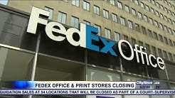 Business report: FedEx closing office and print stores in Canada