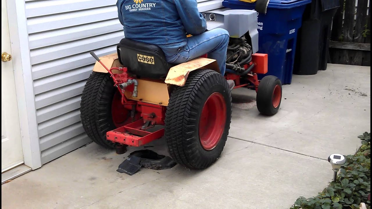 Case garden tractor with 3 cylinder geo motor YouTube