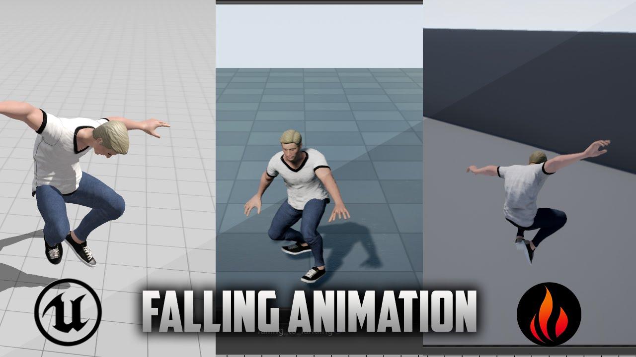Unreal engine 4 falling animation with landing youtube unreal engine 4 falling animation with landing malvernweather Gallery