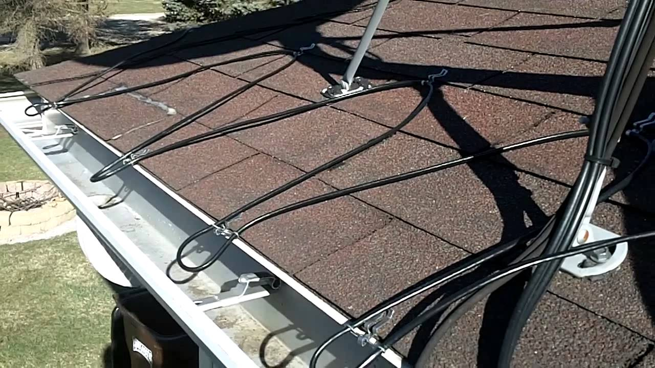 Heated Gutter Cable Installation Easy Heat Cables   YouTube