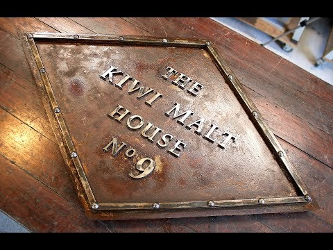 Rustic Hand Made Steel Sign - Forme Industrious