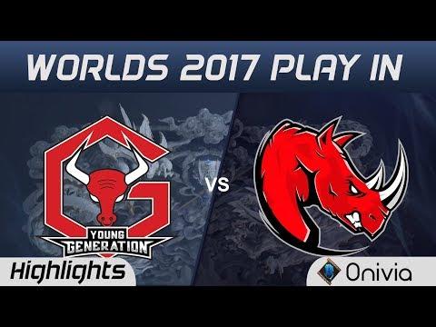 YG vs KLG Highlights World Championship 2017 Play In Young Generation vs Kaos Latin Gamer